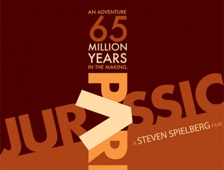 Jurassic Park Typography Poster