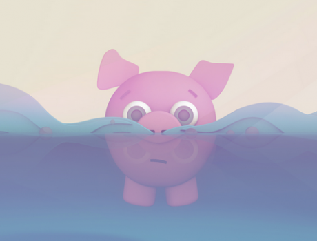 Floating Pig – 3D Animation